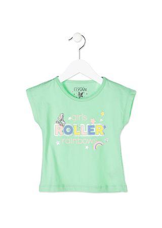 Losan dívčí tričko 98 zelená