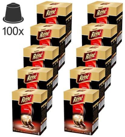 René Kapsułki do ekspresu Sublimo Nespresso, 100 sztuk