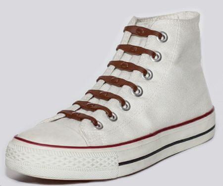 Shoeps Silikonowe sznurowadła do butów Brown