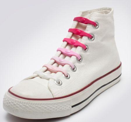 Shoeps Silikonowe sznurowadła do butów Mix Pink