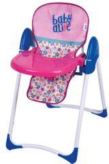 Hauck Baby alive - jídelní židlička pro panenky - rozbaleno