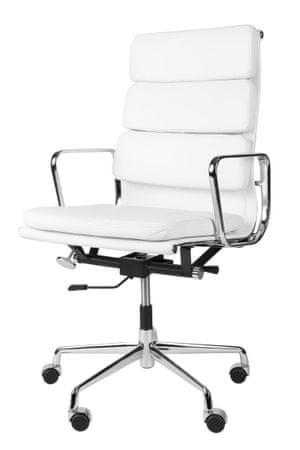 Mørtens Furniture Kancelářské křeslo Softies, bílá kůže