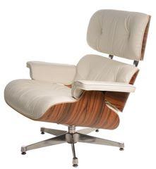 Mørtens Furniture Dizajnové otočné kreslo Easy, biela/palisander