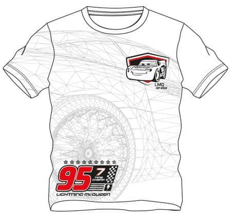 d1687cec652f Disney by Arnetta chlapčenské tričko Cars 110 biela