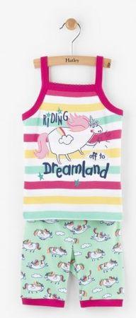 Hatley Dívčí letní pyžamo s jednorožcem - barevné 116