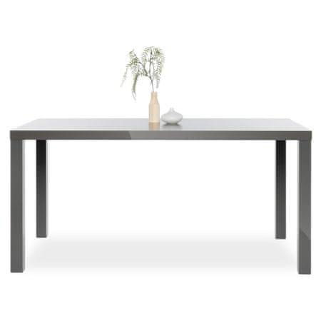 FARELA Jedálenský stôl Priscilla, 160 cm, sivá lesk