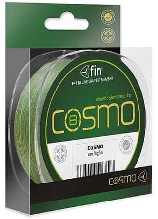 FIN Splétaná Šňůra Cosmo Zelená 130 m 0,16 mm, 9 kg