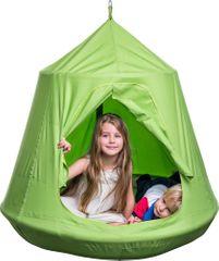 """Woody  wiszący namiot - zielone """"ptasie gniazdo"""""""