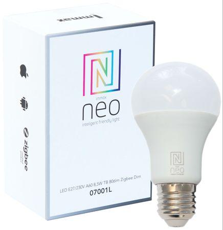 Immax Neo LED E27/230V A60 8,5W TB 806lm Zigbe DIM Távirányító