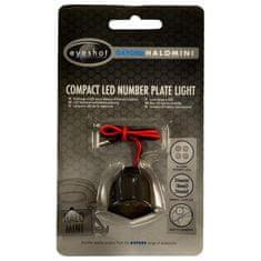 Oxford LED osvetlitev za registracijsko tablico Halo, črna