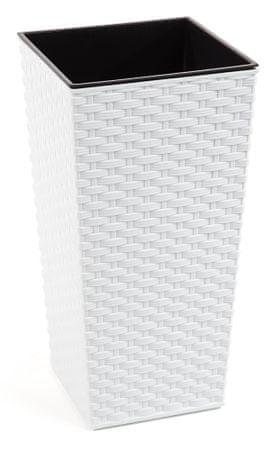 Lamela kvetináč FINEZIA RATAN 400 x 400 biela