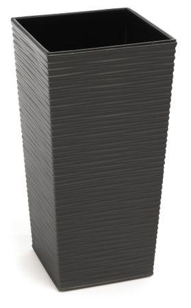 Lamela kvetináč FINEZIA DLUTO-vrúbok 350 x 350 tmavosivá