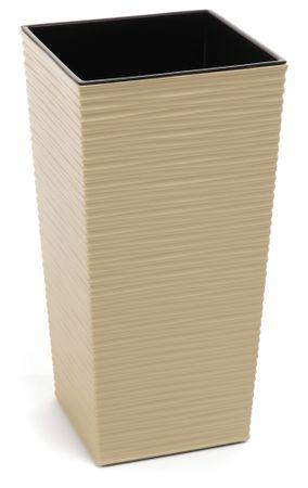 Lamela kvetináč FINEZIA DLUTO-vrúbok 400 x 400 CAPPUCCINO
