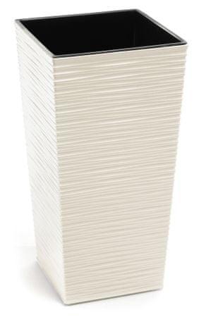 Lamela kvetináč FINEZIA DLUTO-vrúbok 400 x 400 krémová