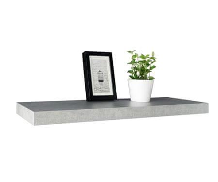 Opdateret FARELA Nástěnná police Hylde 2, 90 cm, světlý beton | MALL.CZ UI69