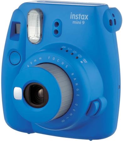 FujiFilm polaroidni analogni fotoaparat Instax Mini 9, temno moder - Odprta embalaža