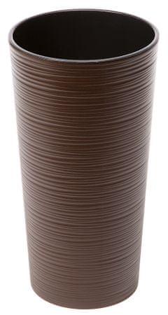 Lamela kvetináč LILIA DLUTO-vrúbok 250 tmavohnedá