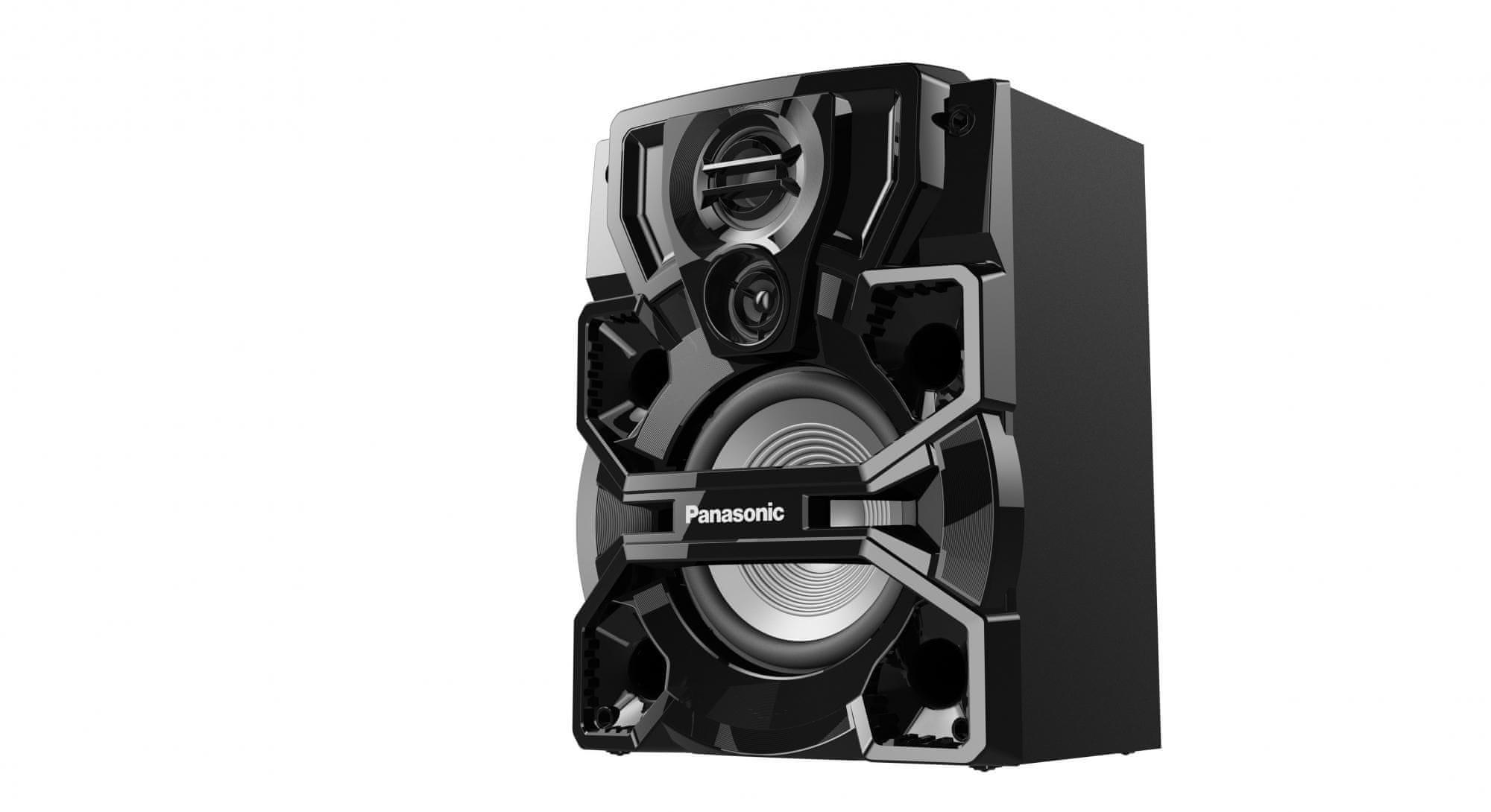 Panasonic SC-AKX660E-K mini rendszer erős basszusokkal és rezonanciával