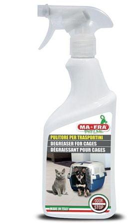 MA-FRA Pet Line čistilno razmaščevalno sredstvo za kletke in bokse Odor Stop, 500 ml