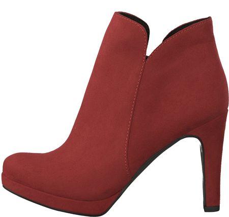 Tamaris buty za kostkę damskie Lycoris 37, czerwony