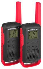 Motorola radijska postaja Walkie Talkie T62, rdeča