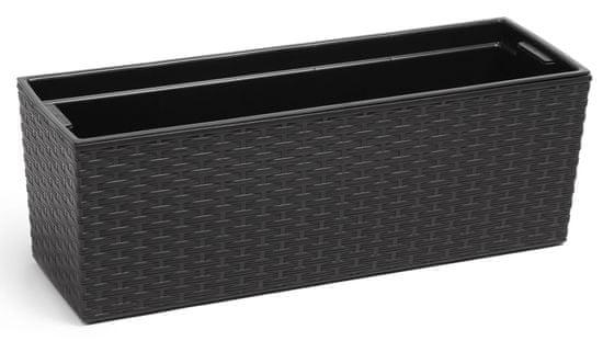 Lamela truhlík BEGONIA RATAN 190 x 560 černá