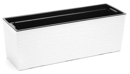 Lamela hrantík BEGONIA DLUTO-vrúbok 190 x 560 biela