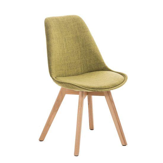 BHM Germany Konferenční / jídelní židle Lenora textil (SET 2 ks), zelená