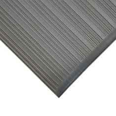 Šedá protiskluzová protiúnavová průmyslová pěnová rohož - 0,9 cm