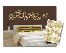 Dimex Dekoračné nálepky na stenu Zlaté kruhy - 50 x 70 cm