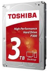 """TOSHIBA tvrdi disk P300 3 TB, 8,89 cm (3,5""""), SATA3, 7200 (HDWD130UZSVA)"""