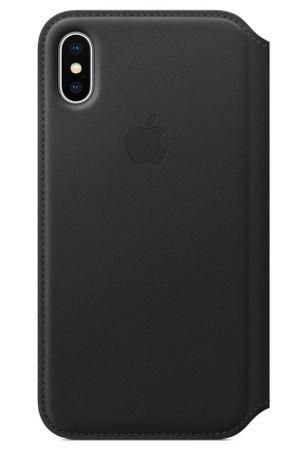 Apple usnjen ovitek Leather Folio za iPhone X, črn