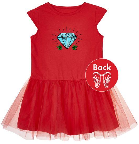 Garnamama dívčí šaty Tattoo 2 červené 86