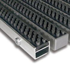 FLOMA Šedá hliníková kartáčová venkovní vstupní rohož Alu Super, FLOMA - 2,7 cm