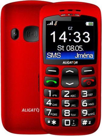 Aligator A670 Senior, červený - rozbaleno