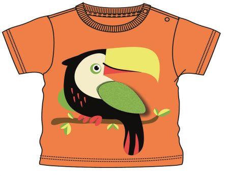 Mix 'n Match chlapecké tričko 80 oranžová