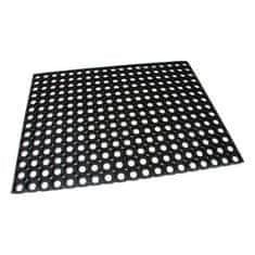 FLOMAT Gumová vstupní čistící rohož na hrubé nečistoty Honeycomb - 80 x 60 x 1,6 cm