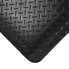 Černá gumová protiúnavová průmyslová rohož - 1,4 cm