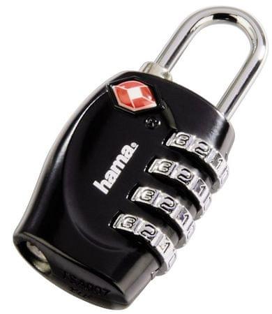 Hama ključavnica za prtljago, črna