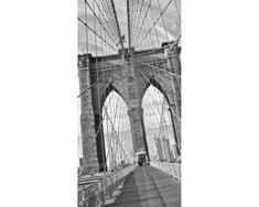 Dimex Fototapeta S-5510-SK Brooklyn most - čiernobiely 110 x 220 cm