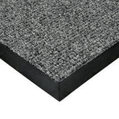 FLOMAT Šedá textilní zátěžová čistící vnitřní vstupní rohož Catrine, FLOMAT - 1,35 cm