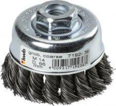 KWB lončasta pletena žična krtača za kotni brusilnik, 66 mm, Ø0,35 mm, M14 (719236)
