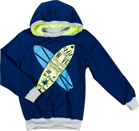 MMDadak chlapčenská mikina Surf 104 modrá