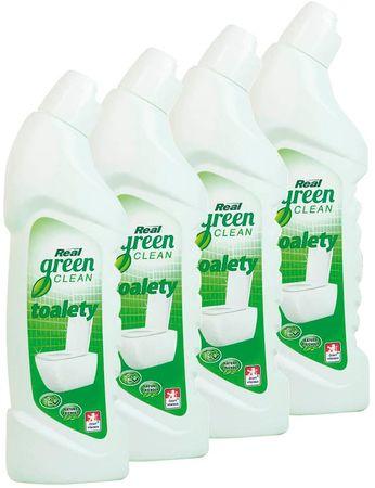 Real Green Clean WC tisztító, 4 x 750 g