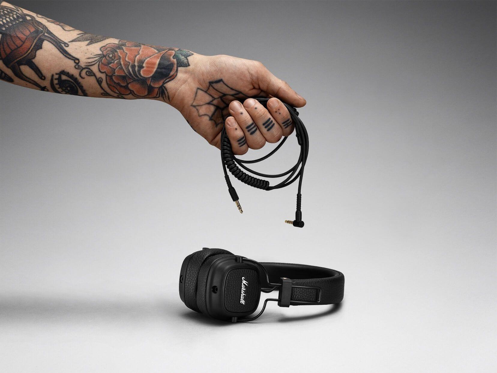 Fejhallgató Marshall Major III levehető kábel 3,5mm jack