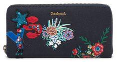 Desigual ženska denarnica  Surprise Fiona, temno modra