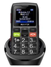Aligator A440 Senior, Dual SIM, čierno-šedý