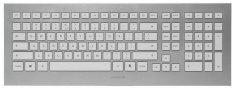Cherry tipkovnica Strait 3.0, USB, UK HR, bijelo srebrna