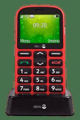 Doro 1360 DualSIM, červený