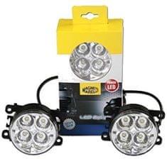 Magneti Marelli LED svetlá pre denné svietenie - guľaté 12 / 24V 4xLED